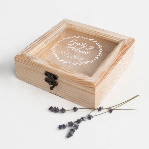 Modern Geometric Wood Jewelry Box    - GlobalWedding