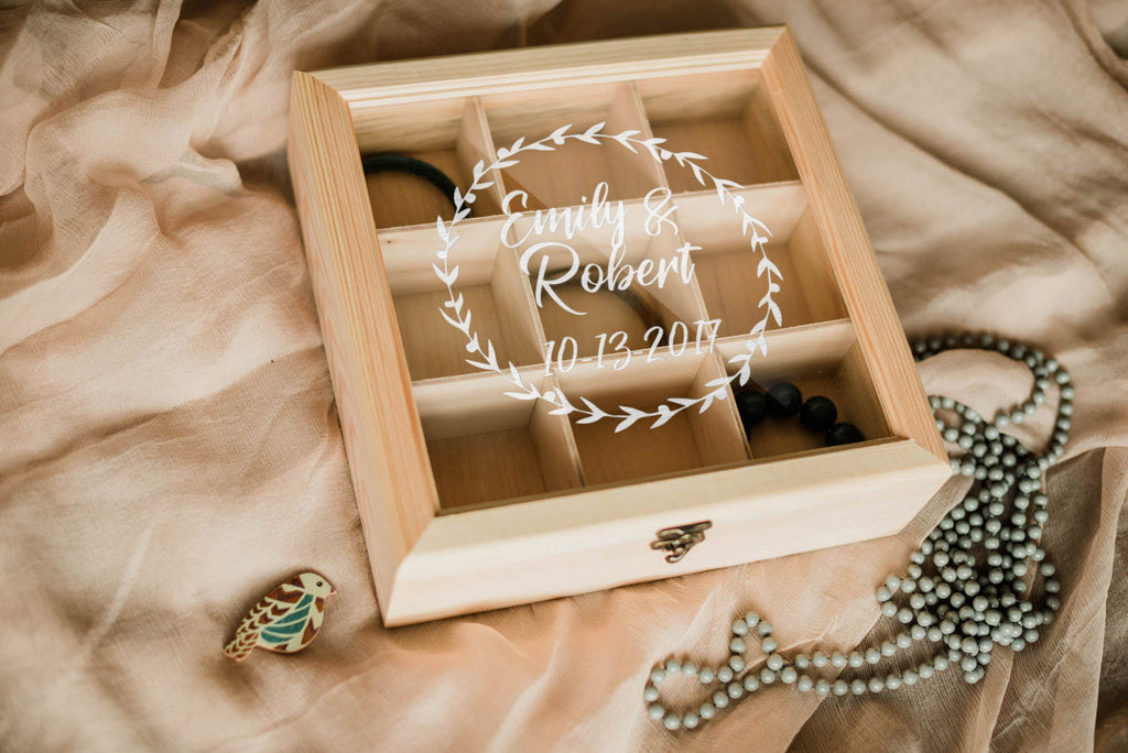 Custom Rustic Geometric Jewelry Box    - GlobalWedding