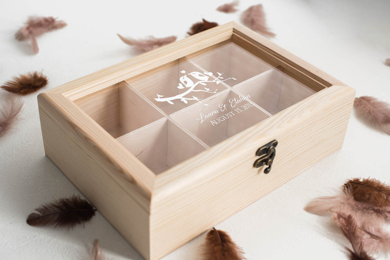 Modern Engraved Custom Jewelry Box    - MatchMadeAbroad