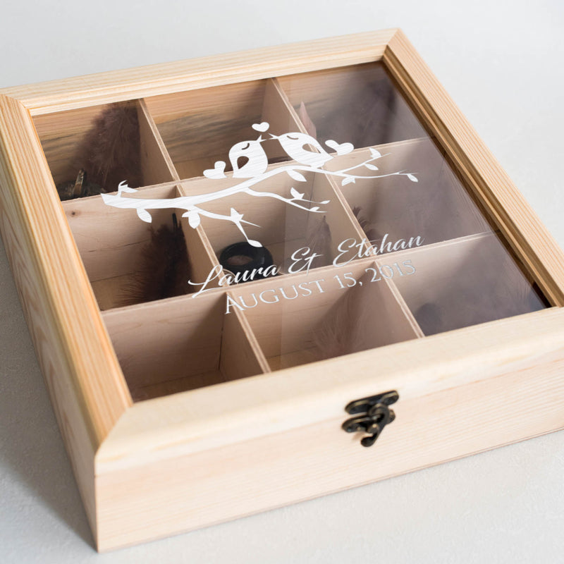Handmade Wood Jewelry Box    - GlobalWedding