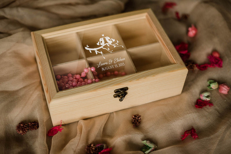 Custom Vintage Rustic Jewellery Box    - GlobalWedding