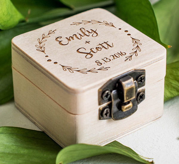 Jewellry Wooden Keepsake Rustic Ring Box  Ring Box  - GlobalWedding