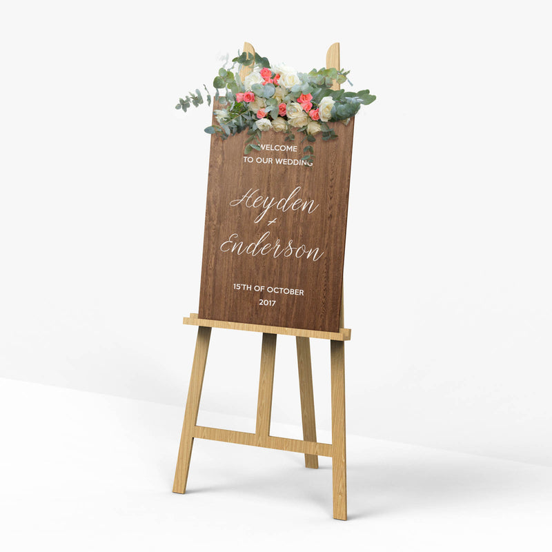 Reception Wooden Sign