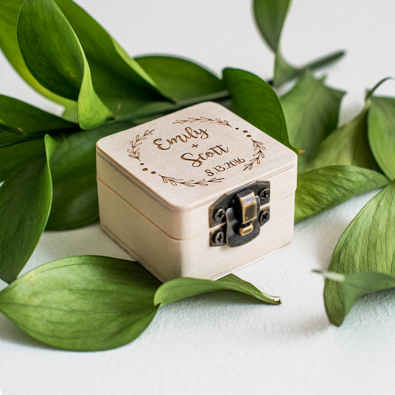 Custom Ring Bearer Box  Ring Box  - MatchMadeAbroad
