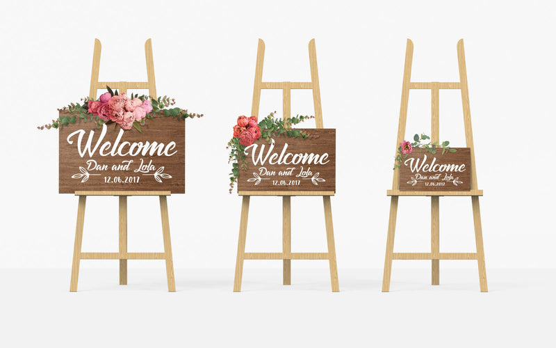 Personalized Weeding Large Sign