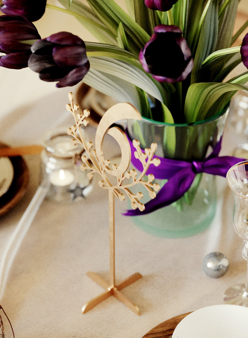 Decoration Engraved Modern Wedding Table Numbers    - GlobalWedding