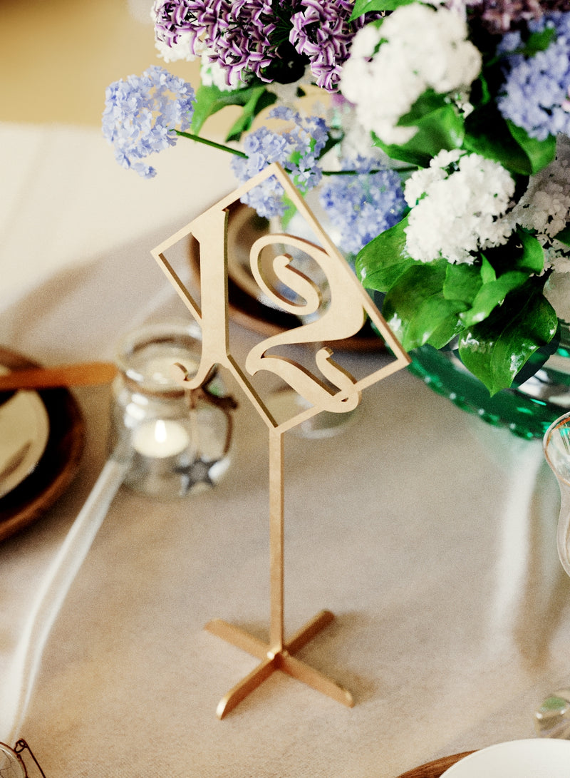 Unique Gold Vintage Wedding Table Numbers