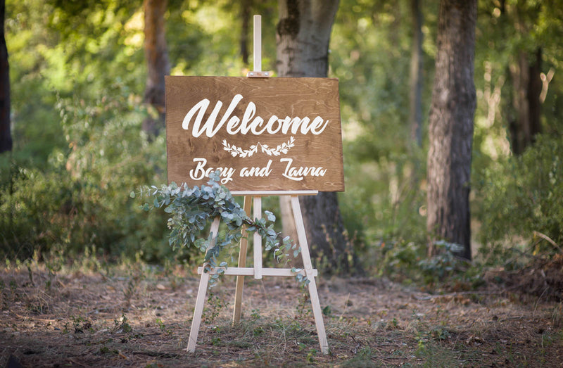 Rustic Large Bridal Weeding Sign