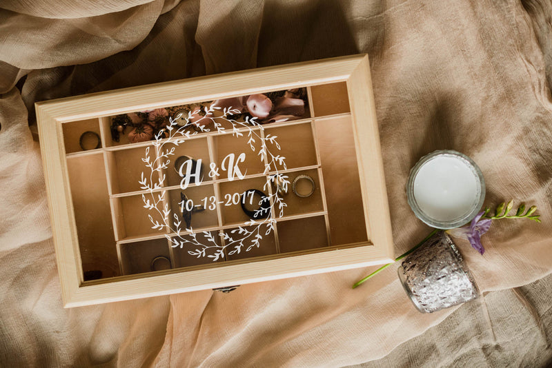 Handmade Glass Personalized Jewelry Box    - MatchMadeAbroad