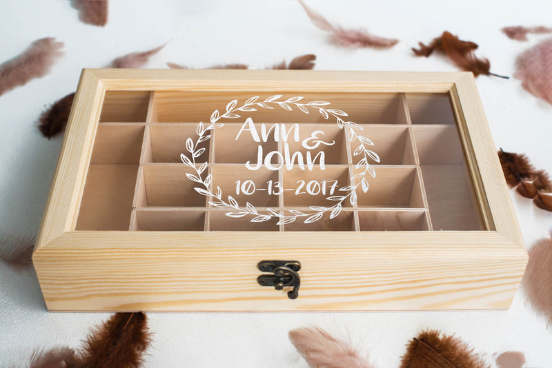 Modern Wood Vintage Jewelry Box