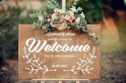 Custom Porch Large Wooden Sign    - GlobalWedding