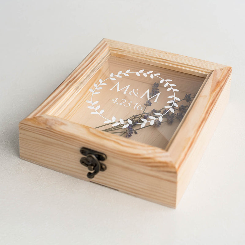 Rustic Unique Custom Engraved Jewelry Box