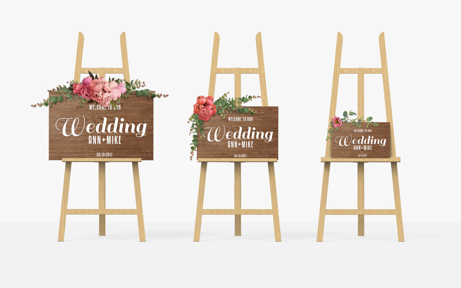 Horizontal Rustic Wooden Bridal Sign    - GlobalWedding