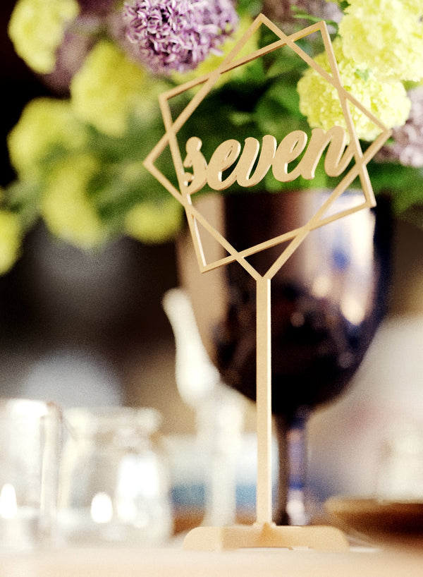 Custom Engraved Wedding Table Number    - GlobalWedding
