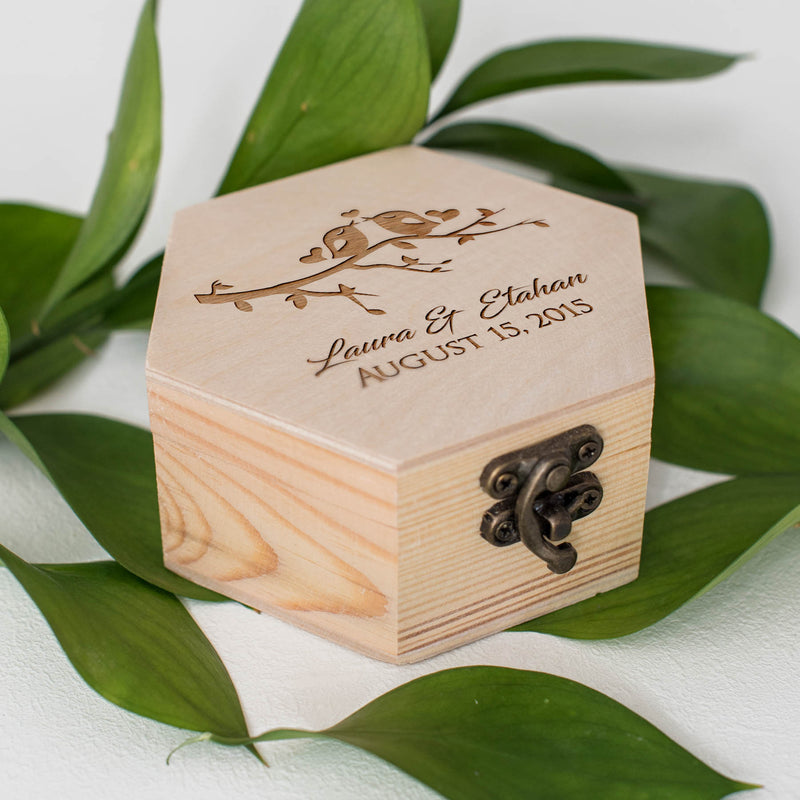 Wood Modern Elegant Jewelry Box