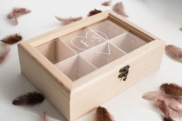Geometric Personalized Jewelry Box    - GlobalWedding