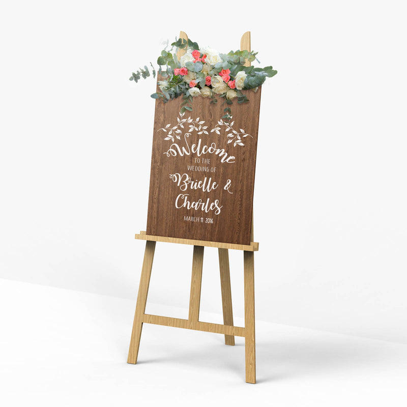 Rustic Wedding Reception Welcome Sign