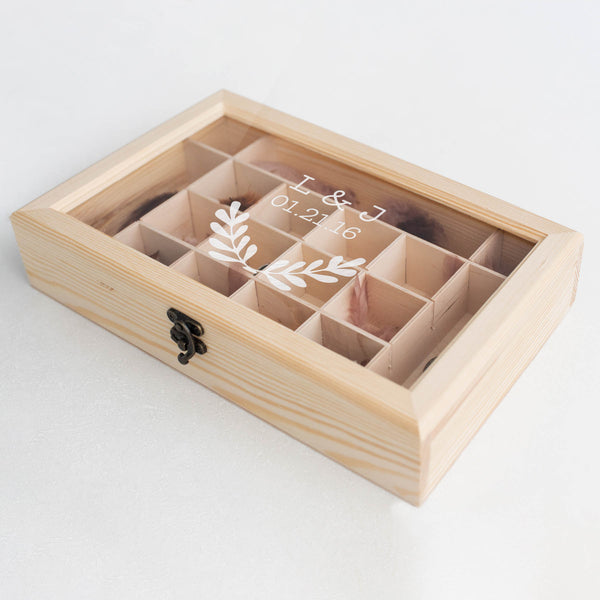 Jewelry Box - Wood Rustic Geometric Handmade Personalised Jewelry Box    - GlobalWedding
