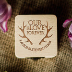 Engagement Wooden Personalised Ring Box  Ring Box  - GlobalWedding