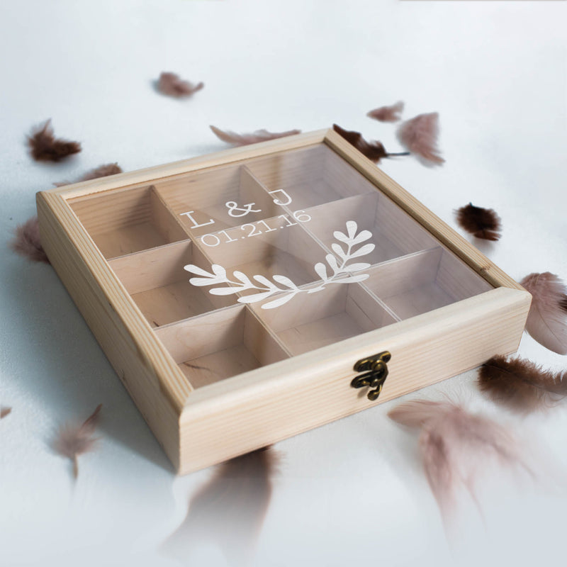 Rustic Elegant Personalized Vintage Jewelry Box