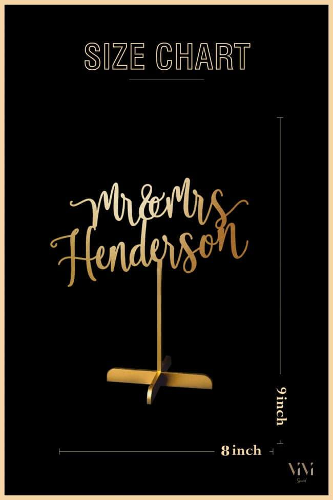 Mr & Mrs Personalized - Table Sign