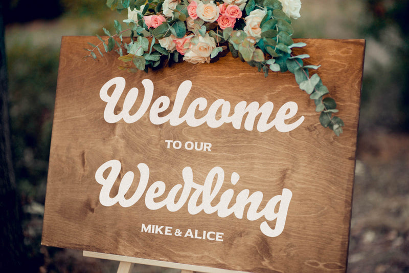 Large Rustic Wedding Welcome Sign