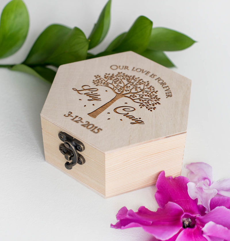 Elegant Personalized Vintage Jewelry Box    - MatchMadeAbroad