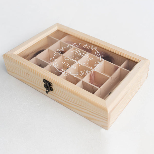 Handmade Custom Wood Personalized Jewelry Box    - GlobalWedding