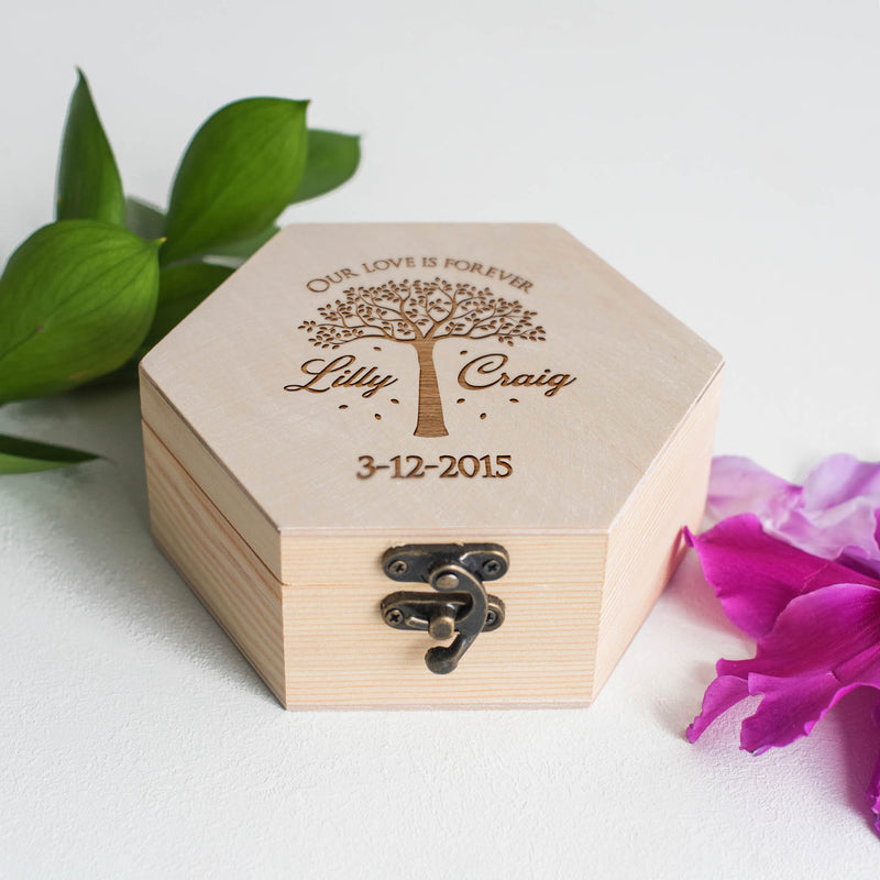 Geometric Engraved Decoration Elegant Jewelry Box    - MatchMadeAbroad