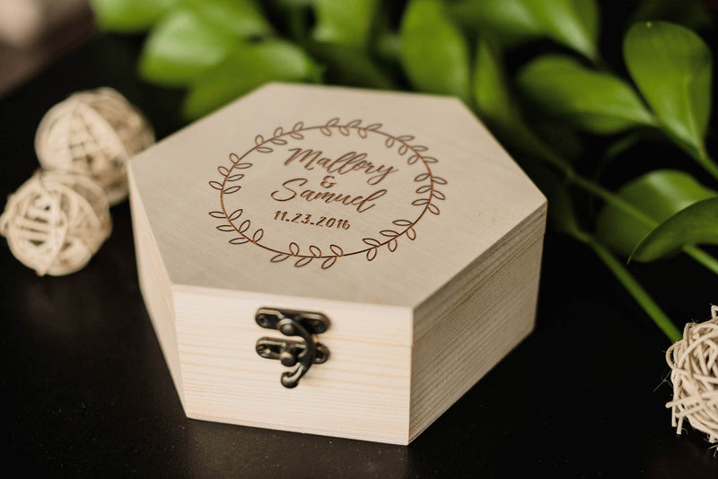 Rustic Engraved Personalized Jewelry Box