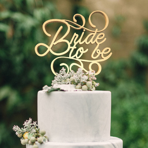 Calligraphy Glitter Decoration Bride To Be Cake Topper  General Cake Topper  - GlobalWedding