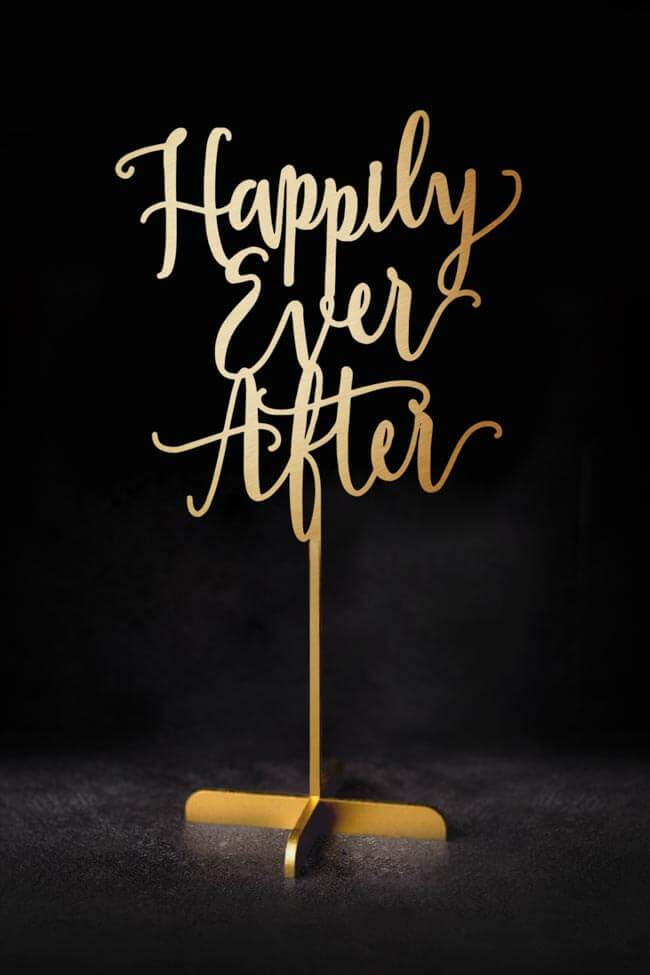 Happily Ever After - Table Sign