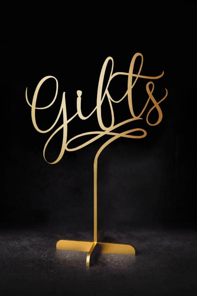 Gifts - Table Sign