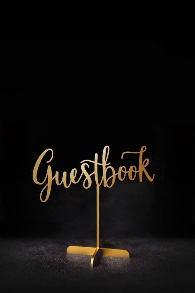 Guestbook Sign - Table Sign
