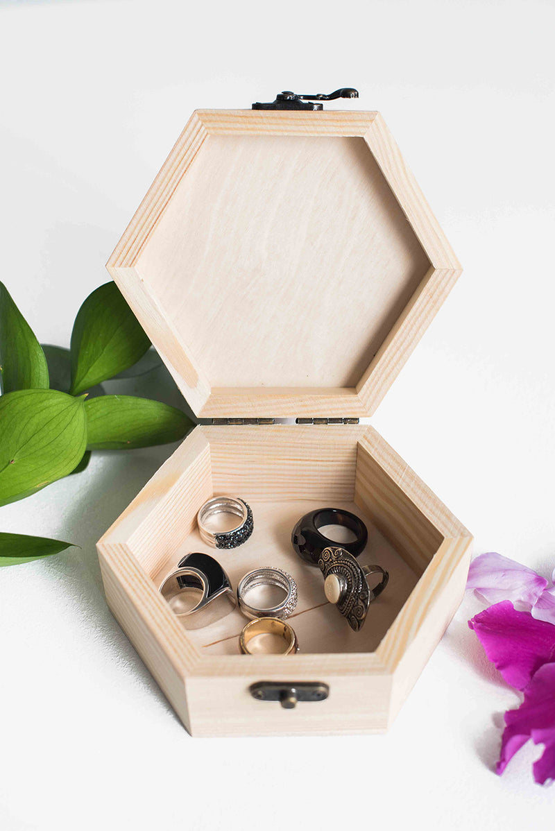 Unique Modern Rustic Jewelry Box