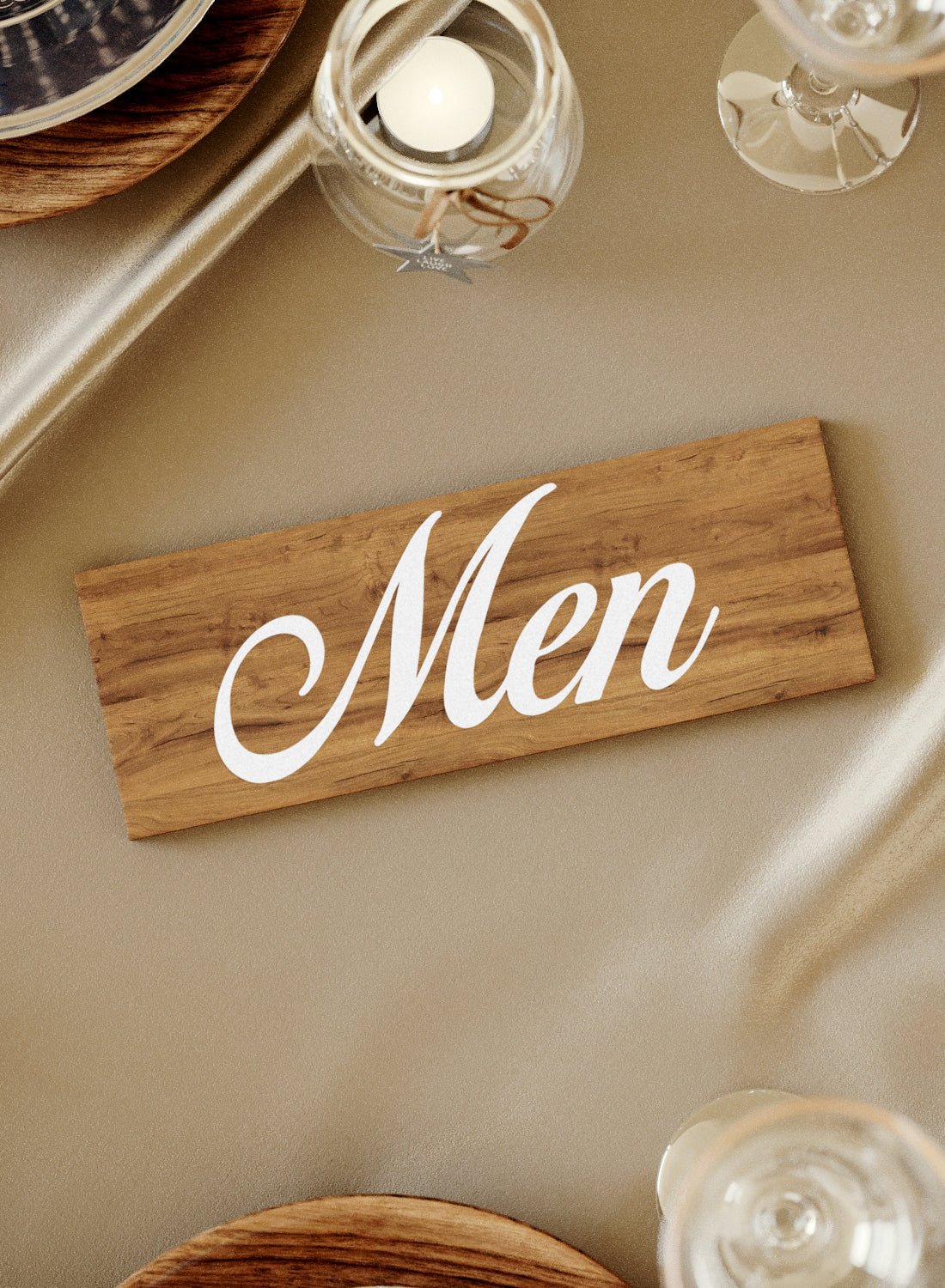 Decoration Vintage Custom Engraved Wedding Sign    - GlobalWedding
