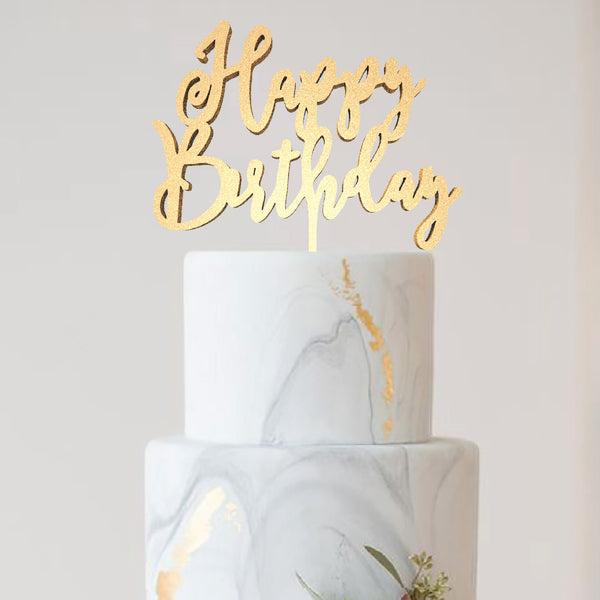 Happy birthday cake topper  Birthday Cake Topper  - GlobalWedding