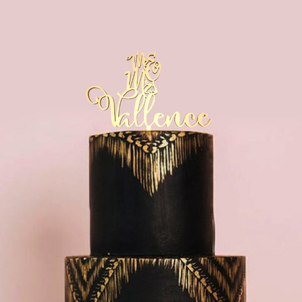 Copper Personalized Custom Champagne Mr and Mrs Cake Topper  Personalised Cake Topper  - GlobalWedding