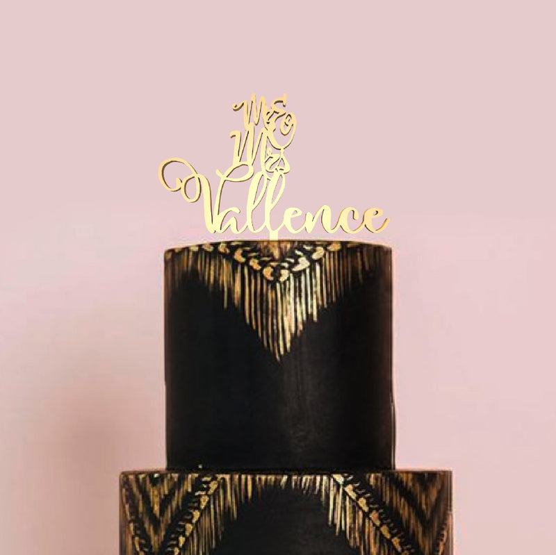Copper Personalized Custom Champagne Mr and Mrs Cake Topper  Personalised Cake Topper  - MatchMadeAbroad
