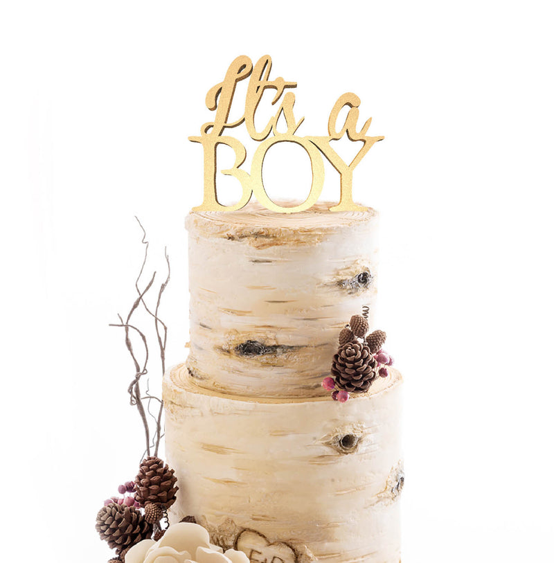 Its a Boy Mirror Champagne Custom Cake Topper  Birthday Cake Topper  - MatchMadeAbroad