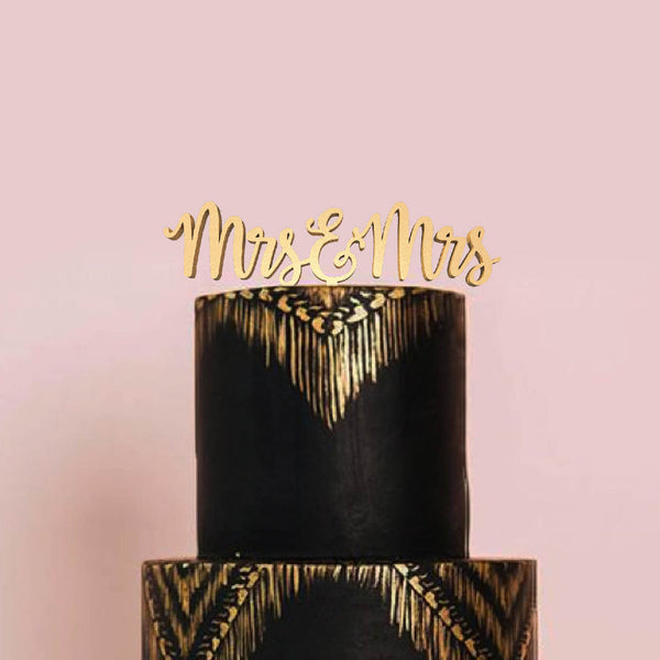 Decoration Glitter Delicate Mrs & Mrs Cake Topper  General Cake Topper  - GlobalWedding