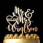Surename Wedding Cake Topper