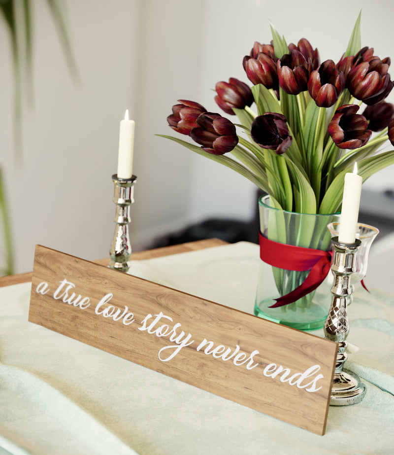 Glass Vintage Acrylic Wedding Sign    - MatchMadeAbroad