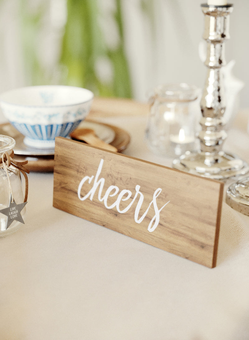 Glass Decoration Wedding Sign    - MatchMadeAbroad