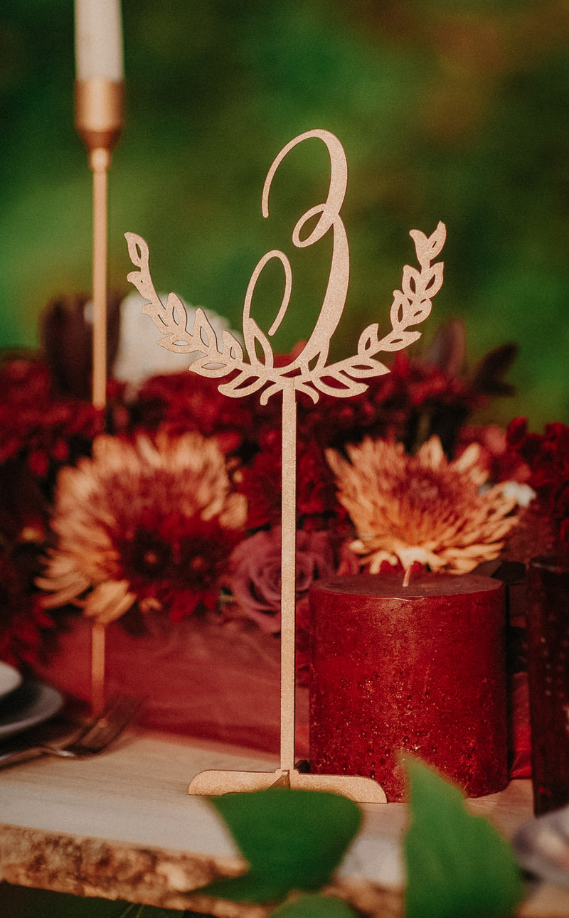 Wedding Custom Gold Table Number