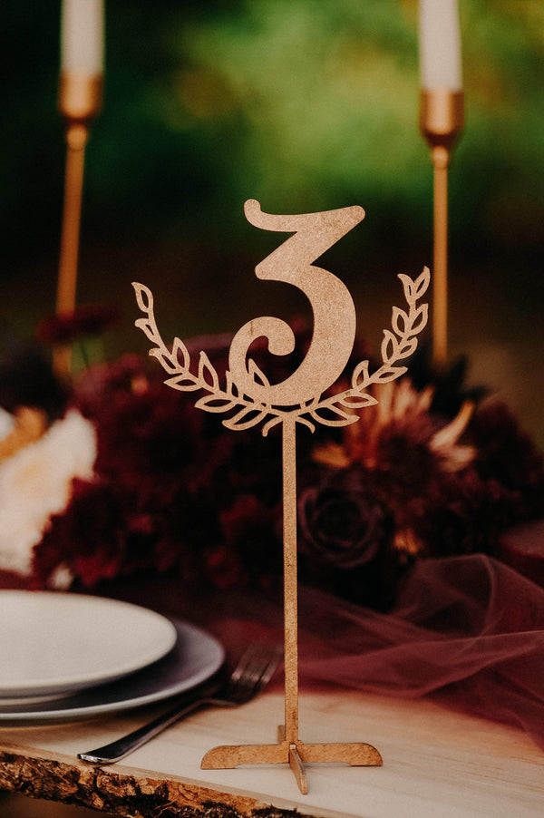 Unique Custom Engraved Wedding Table Number