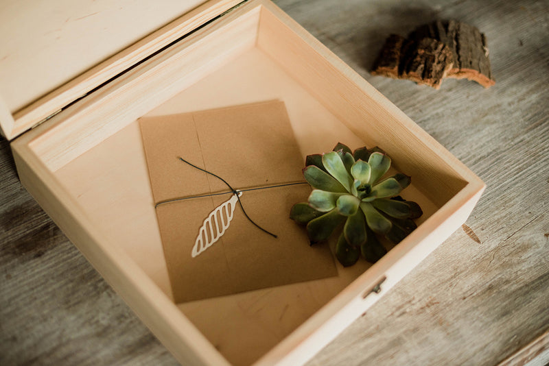 Geometric Vintage Modern Rustic Jewelry Box    - GlobalWedding