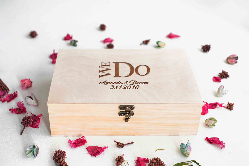 Decoration Engraved Geometric Jewelry Box    - GlobalWedding