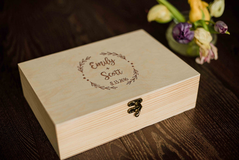 Rustic Vintage Personalized Custom Jewelry Box