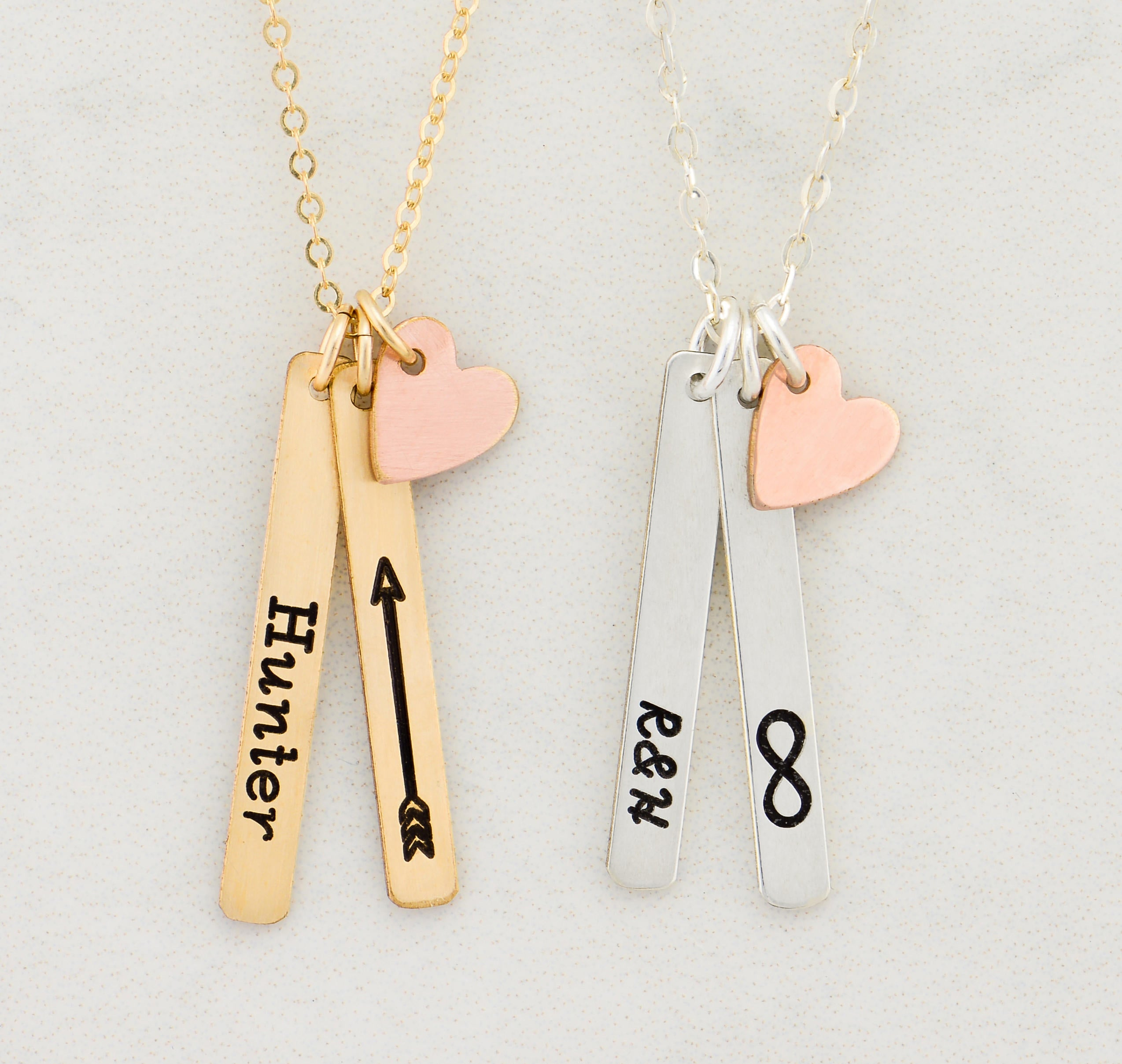 necklace monogram mini elvie sides signature on engravable long products bar gold